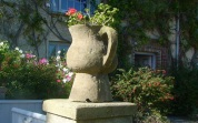 Stone flower container