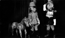 Marionettes from 'Oh what a lovely war' pic in b/w