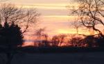 Sunset near the campsite